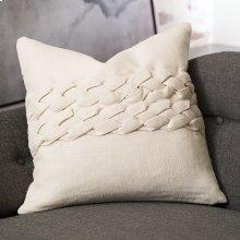 Avola Braided Pillow-Ecru