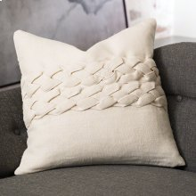 Avola Braided Pillow-Ecru