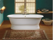 REGAL Cast Iron Bath with Pedestal Base With Flat Area for Faucet Holes
