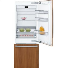 "Benchmark® Benchmark®, 30"" Built-in Two Door Bottom Freezer Refrigerator with Home Connect, B30IB900SP, Custom Panel"