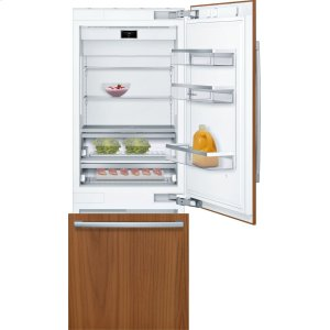 "Bosch BenchmarkBENCHMARK SERIESBenchmark® Benchmark®, 30"" Built-in Two Door Bottom Freezer Refrigerator with Home Connect, B30IB900SP, Custom Panel"