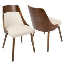 Anabelle Chair - Walnut Wood, Cream Fabric