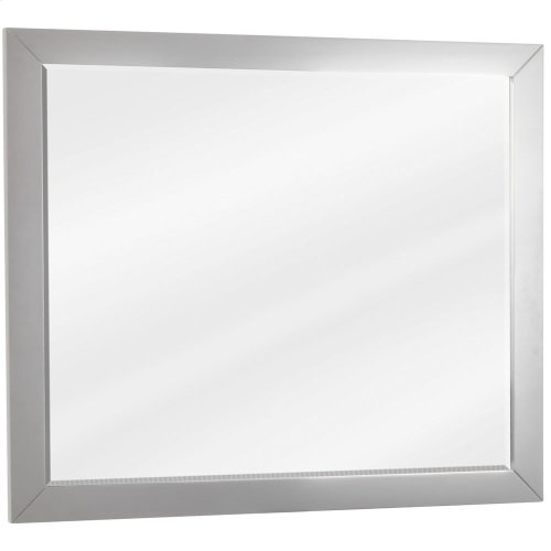 "33"" x 28"" Grey mirror with beveled glass"
