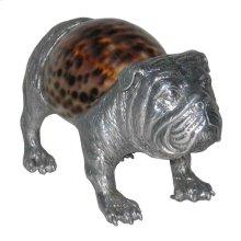Bulldog Sculpture - Aluminum & Seashell