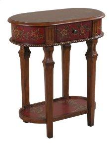 Crimson Lamp Table