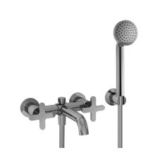 Wall-mount two-handle tub filler