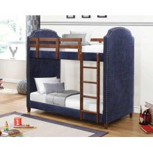 Charlene Traditional Navy Twin-over-twin Bunk Bed