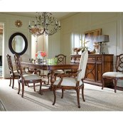 Arrondissement-Famille Pedestal Table in Heirloom Cherry