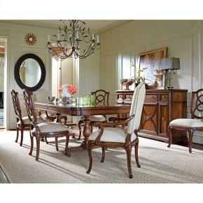 Arrondissement-Famille Pedestal Table in Heirloom Cherry