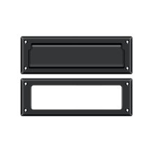 """Mail Slot 8 7/8"""" with Interior Frame - Paint Black"""