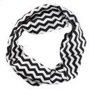 Black & White Chevron Stretch Headband. Product Image