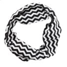 Black & White Chevron Stretch Headband. Product Image