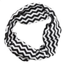 Black & White Chevron Stretch Headband.