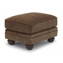 Bexley Two-Tone Fabric Ottoman