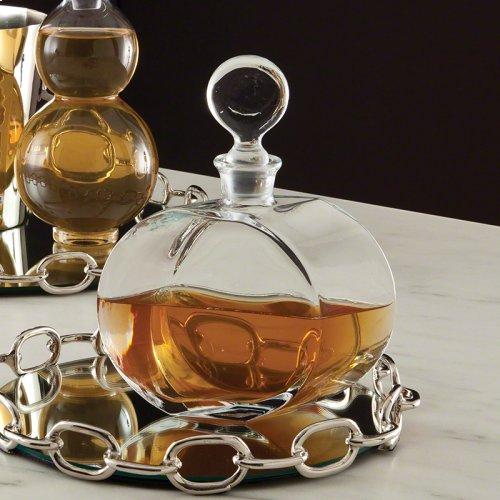 Round Glass Decanter-Offset Shape