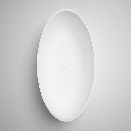 "halo blustone™ freestanding oval tub Concrete matte 67""x 31 1/2""x19 3/4"""