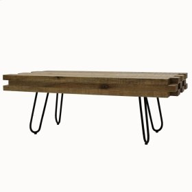 Grady KD Coffee Table Black Legs, Natural