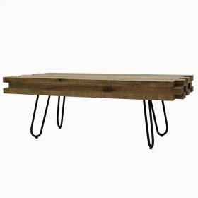 Grady KD Coffee Table Black Legs, Natural