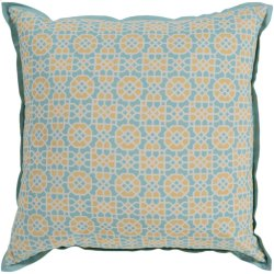 "Francesco FNC-005 22"" x 22"" Pillow Shell with Down Insert"