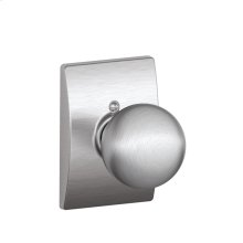 Orbit Knob with Century trim Non-turning Lock - Satin Chrome