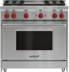"""36"""" Gas Range - 4 Burners and Infrared Griddle Product Image"""