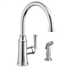 Portsmouth 1-Handle High-Arc Kitchen Faucet with Side Spray - Polished Chrome