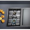 "400 Series Vario 400 Series Gas Cooktop Stainless Steel Width 15"" (38 Cm) Natural Gas. For Conversion To Lp Gas, Lp Kit (Part #423414) Must Be Ordered."