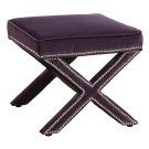 Reese Purple Velvet Ottoman Product Image