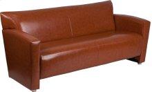HERCULES Majesty Series Cognac Leather Sofa