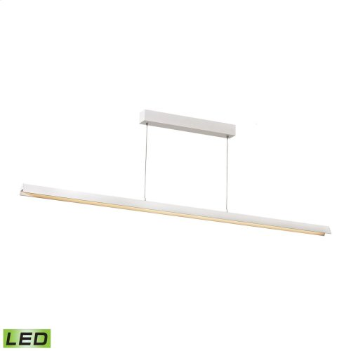 Tent Pendant - LED 33W Matte White Finish