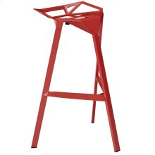 Launch Stacking Bar Stool in Red