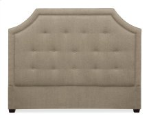 Queen-Sized Sophia Crested Headboard in Espresso