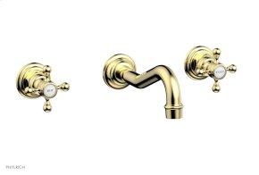 HENRI Wall Tub Set - Cross Handle 161-56 - Polished Brass