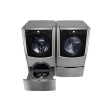 5.5 Total Capacity LG TWINWash Bundle with LG SideKick and Gas Dryer