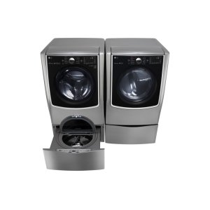LG 鸭博娱乐s5.5 Total Capacity LG TWINWash™ Bundle with LG SideKick™ and Gas Dryer