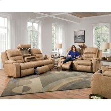 Power Recline / Power Headrest / Power Lumbar Reclining Sofa w/Wand / Fold Down Table w/USB / Lights / QI Charging / Lighted Cupholders / Dual Arm Storage / Drawer