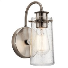 Braelyn 1 Light Wall Sconce Classic Pewter