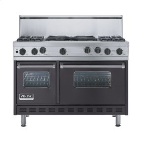 "Graphite Gray 48"" Sealed Burner Self-Cleaning Range - VGSC (48"" wide, four burners & 24"" wide wok/cooker)"