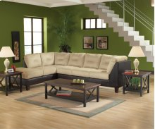 San Marino / Chocolate / Padded Saddle Sectional