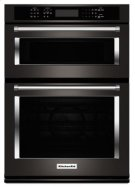 "30"" Combination Wall Oven with Even-Heat True Convection (Lower Oven) - Black Stainless Product Image"