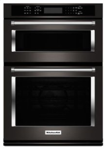 """30"""" Combination Wall Oven with Even-Heat™ True Convection (Lower Oven) - Black Stainless"""