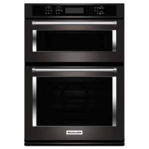 """KITCHENAIDBLACK STAINLESS30"""" Combination Wall Oven with Even-Heat True Convection (Lower Oven) - Black Stainless"""