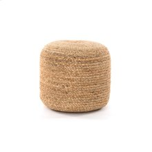 Jute Braided Pouf-natural