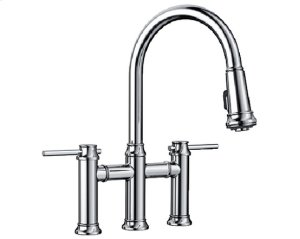 Blanco Empressa Bridge Faucet - Polished Chrome Product Image