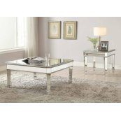Transitional Silver Coffee Table