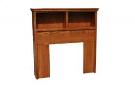 A-T285-F Traditional Alder Full Open Bookcase Headboard