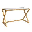 Gold Leaf Desk With Beveled Glass Top. Product Image