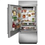 "Kitchenaid 20.9 Cu. Ft. 36"" Width Built-In Stainless Bottom Mount Refrigerator with Platinum Interior Design - Stainless Steel"