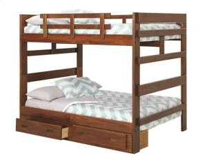 Heartland Full over Full Bunk Bed with options: Chocolate, Full over Full, 2 Drawer Storage