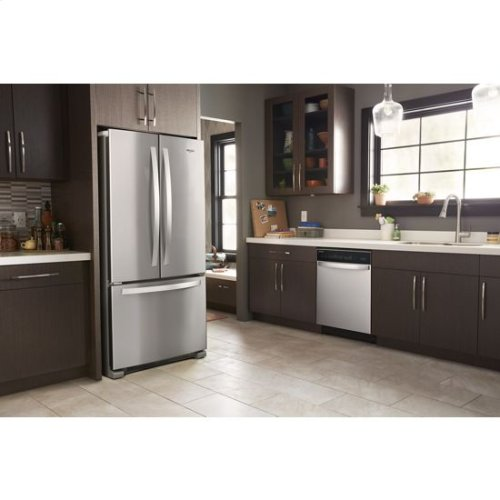 "Whirlpool, 6 Cycles, Front Control Options, 51 dBA,Nylon Tub 24"" Built In Dishwasher - Stainless Steel"